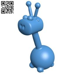 Balloon giraffe B005791 download free stl files 3d model for 3d printer and CNC carving