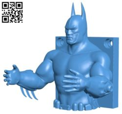 Batman Hanger B005798 download free stl files 3d model for 3d printer and CNC carving