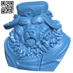 Bear B006215 download free stl files 3d model for 3d printer and CNC carving