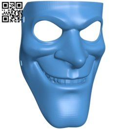 Bobby mask B005872 download free stl files 3d model for 3d printer and CNC carving