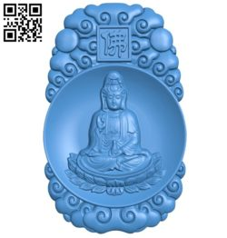 Bodhisattva sound A004251 download free stl files 3d model for CNC wood carving