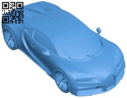 Bugatti chiron car B005895 download free stl files 3d model for 3d printer and CNC carving