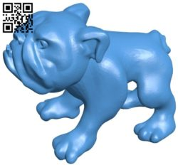 Bull dog B005848 download free stl files 3d model for 3d printer and CNC carving