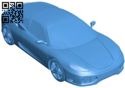 Car Ferrari 360 modena B005811 download free stl files 3d model for 3d printer and CNC carving