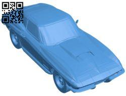 Car chevrolet corvette c2 B005927 download free stl files 3d model for 3d printer and CNC carving