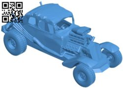 Car ford mad max B005862 download free stl files 3d model for 3d printer and CNC carving