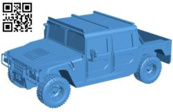 Car hummer B005843 download free stl files 3d model for 3d printer and CNC carving