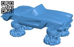Car lola flying B006109 download free stl files 3d model for 3d printer and CNC carving