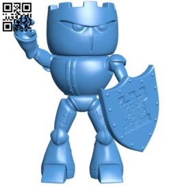 Castleman Warrior Mascot B006288 download free stl files 3d model for 3d printer and CNC carving