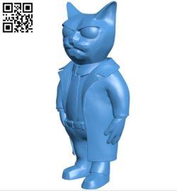 Cat B006268 download free stl files 3d model for 3d printer and CNC carving