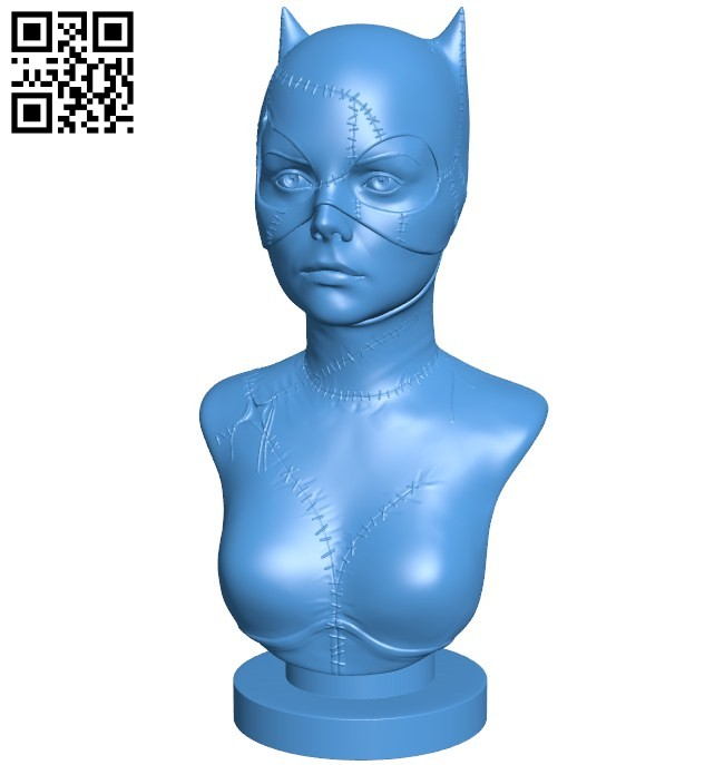 Cat woman B005816 download free stl files 3d model for 3d printer and CNC carving