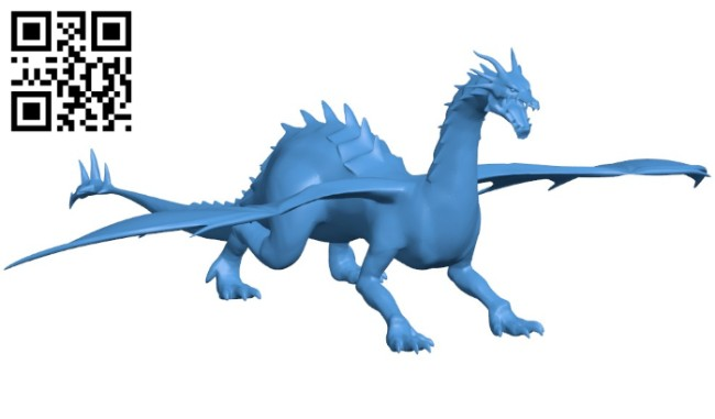 Cave dragon B006276 download free stl files 3d model for 3d printer and CNC carving