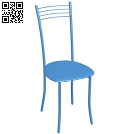 Chair usual B005889 download free stl files 3d model for 3d printer and CNC carving