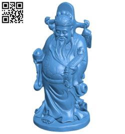 Chinese money god B006294 download free stl files 3d model for 3d printer and CNC carving
