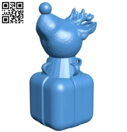 Christmas Chess Knight B005803 download free stl files 3d model for 3d printer and CNC carving