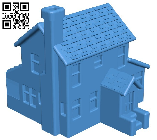 Christmas house B005795 download free stl files 3d model for 3d printer and CNC carving