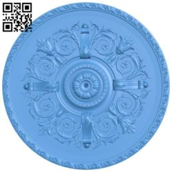 Circular disk pattern A004301 download free stl files 3d model for CNC wood carving