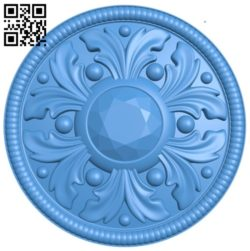 Circular disk pattern A004315 download free stl files 3d model for CNC wood carving