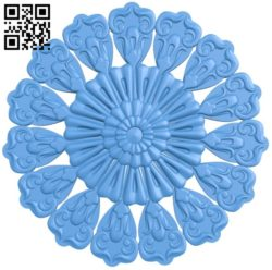 Circular disk pattern A004316 download free stl files 3d model for CNC wood carving