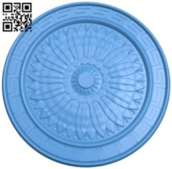 Circular disk pattern A004324 download free stl files 3d model for CNC wood carving