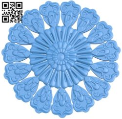 Circular disk pattern A004325 download free stl files 3d model for CNC wood carving