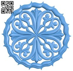 Circular disk pattern A004372 download free stl files 3d model for CNC wood carving