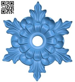 Circular disk pattern flower A004247 download free stl files 3d model for CNC wood carving