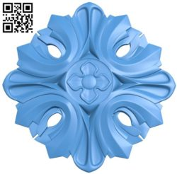 Circular disk pattern flower A004248 download free stl files 3d model for CNC wood carving