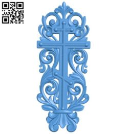Cross and anchor pattern A004387 download free stl files 3d model for CNC wood carving