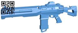 Dahl gun B006245 download free stl files 3d model for 3d printer and CNC carving