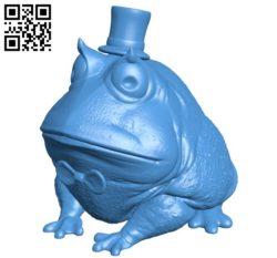 Dapper frog B005926 download free stl files 3d model for 3d printer and CNC carving