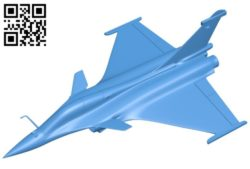Dassault rafale aircraft B006031 download free stl files 3d model for 3d printer and CNC carving