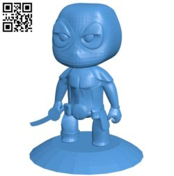 Dead Pool baby B006030 download free stl files 3d model for 3d printer and CNC carving