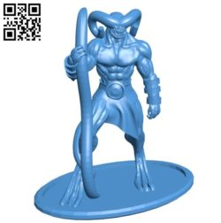 Demon B006247 download free stl files 3d model for 3d printer and CNC carving