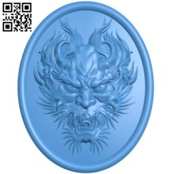 Devil's face A004207 download free stl files 3d model for CNC wood carving