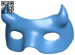 Devil's mask B006100 download free stl files 3d model for 3d printer and CNC carving