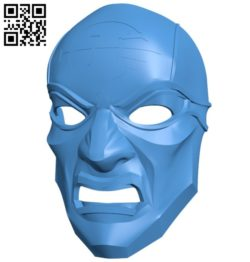 Dishonored overseer mask B006280 download free stl files 3d model for 3d printer and CNC carving