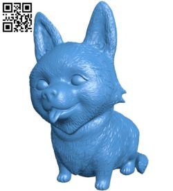Dog B006138 download free stl files 3d model for 3d printer and CNC carving