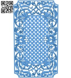 Door pattern design A004367 download free stl files 3d model for CNC wood carving