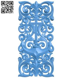 Door pattern design A004395 download free stl files 3d model for CNC wood carving