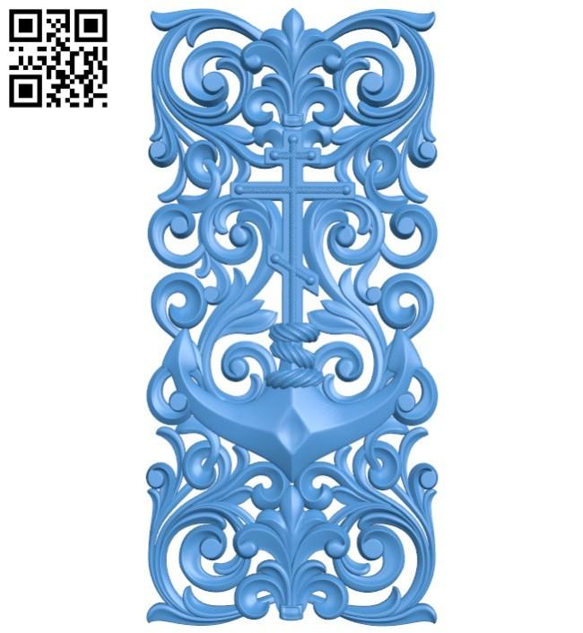 Door pattern design A004395 download free stl files 3d model for CNC wood carving