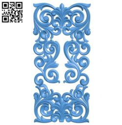 Door pattern design A004396 download free stl files 3d model for CNC wood carving