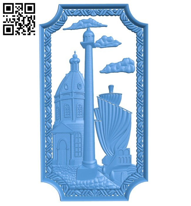 Door pattern design - house A004224 download free stl files 3d model for CNC wood carving