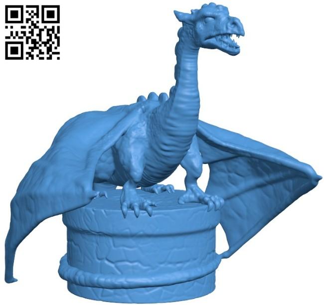 Dragon Bottlestop B005928 download free stl files 3d model for 3d printer and CNC carving