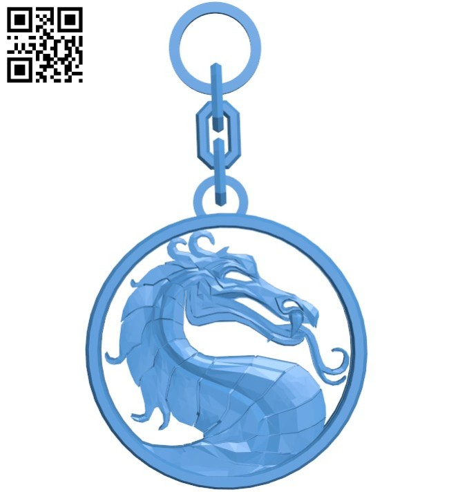 Dragon emblem keychain B006022 download free stl files 3d model for 3d printer and CNC carving