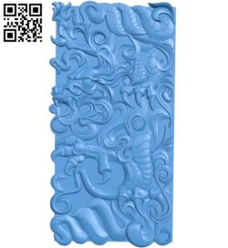 Dragon pattern inscription design A004313 download free stl files 3d model for CNC wood carving