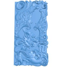 Dragon pattern inscription design A004314 download free stl files 3d model for CNC wood carving