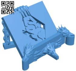 Dragon shelf for phones and tablets B005948 download free stl files 3d model for 3d printer and CNC carving