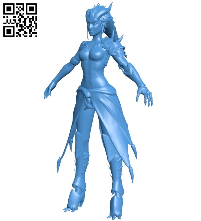 Dragon women B006077 download free stl files 3d model for 3d printer and CNC carving