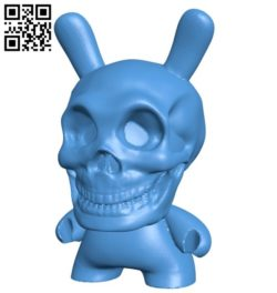 Dunny skull B006201 download free stl files 3d model for 3d printer and CNC carving